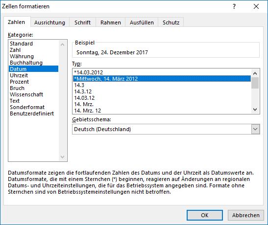 Format Berechnen : excel zu einem gegebenen datum den wochentag berechnen ~ Themetempest.com Abrechnung