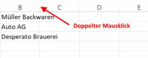 Excel Optimale Spaltenbreite per Mausklick