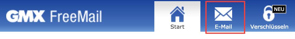 E-Mail-Button bei GMX klicken