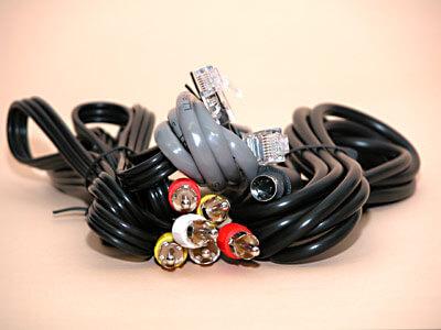 Kabel mit Kabelbindern