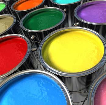 Lackeimer in mehreren Farben - (Foto: iStockphoto/Mark Evans)