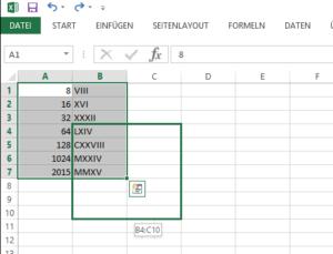 Zellen und Bereiche in Excel per Maus verschieben