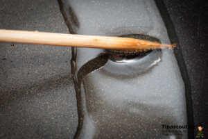 Fett auf Temperatur prüfen mit Holzspieß