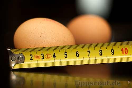 Eier ausmessen