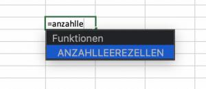 Leere Zellen zählen in Excel