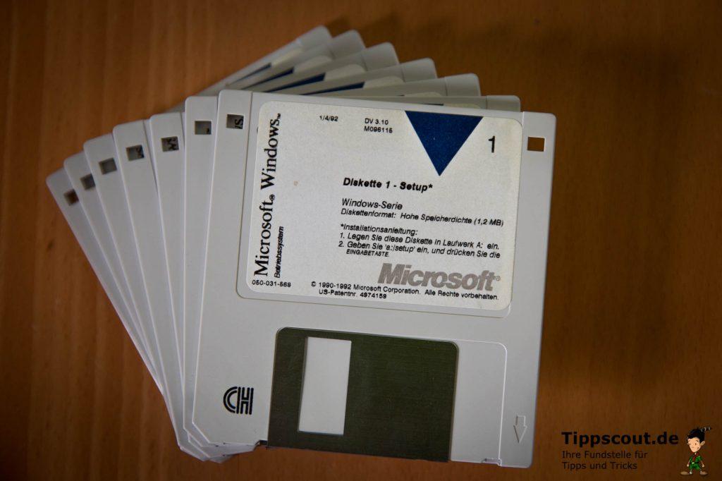 Gar nicht so leicht zu bekommen: Startdisketten für Windows.