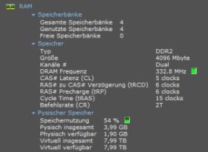 Speccy Unterpunkt RAM