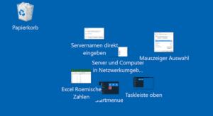 Windows Desktop Symbole platzieren