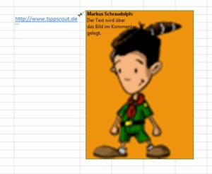 Excel-Kommentar mit Bild