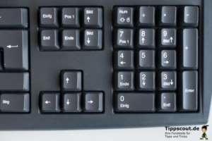 Der Numerische Ziffernblock einer PC Tastatur zum ASCII-Code eingeben