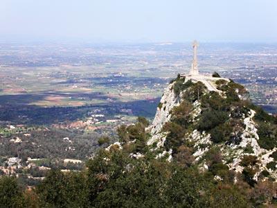 Blick vom Kloster San Salvador auf Mallorca