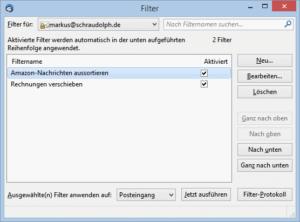 thunderbird filter einrichten um emails automatisch zu sortieren. Black Bedroom Furniture Sets. Home Design Ideas