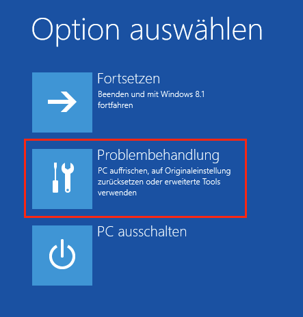Windows 8 Startmenü Optionen
