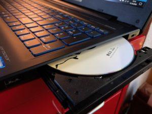 Offenes DVD-Laufwerk