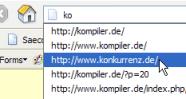 Verlauf gezielt löschen in Firefox