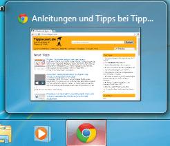 Taskbar-Vorschaubild in Windows 7