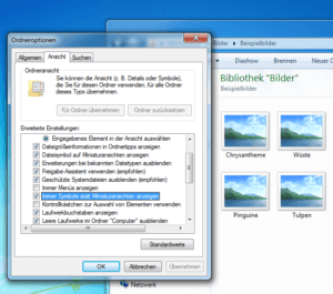 Symbole statt Vorschaubilder im Windows Explorer