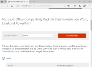 DOCX öffnen mit Compatibility Pack