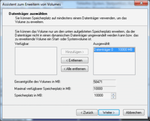 Partition vergrößern in Windows 7