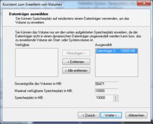 Partition vergrößern in Windows 7