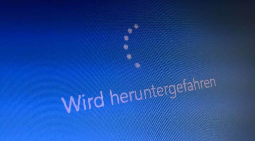 Windows 10 herunterfahren