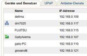 Fritzbox LAN-Liste