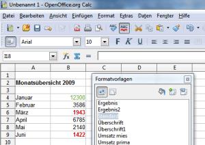 Openoffice Calc Bedingte Formatierung