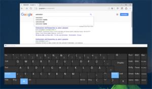 Tastatur am Bildschirm