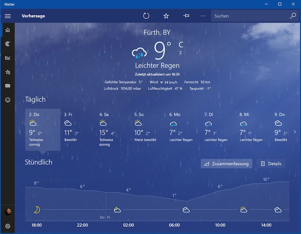 Wetter App Windows 10
