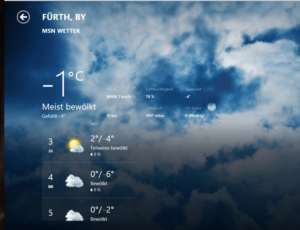 Das lokale Wetter in Windows 8