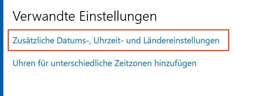 Windows 10 hat noch mehr Einstellungen für Uhrzeit und Datum zu bieten.