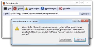 Firefox Masterkennwort Zurücksetzen