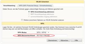 WLAN-Schluessel mit Fritzbox ermitteln