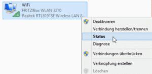 Windows 8.1 Netzwerkstatus