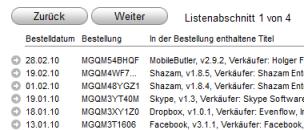 iTunes Einkaufsstatistik