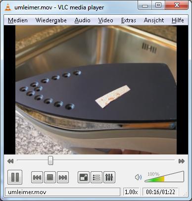 Quicktime-Film im Videolan VLC Mediaplayer