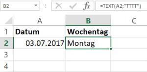 Excel Liste nur Arbeitstage 1