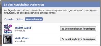 Facebook Mitteilungen entsperren