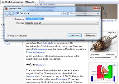 Firefox Webseite komplett speichern