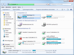 Win7 Explorer in Computeransicht
