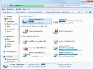 Win7 Explorer in Computeransicht
