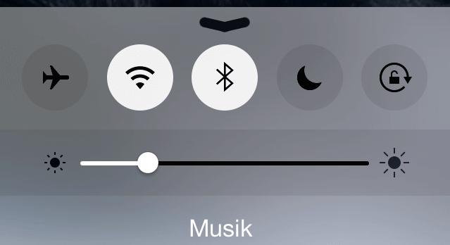 WLAN und Bluetooth auf dem iPhone
