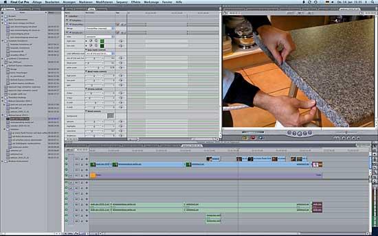 Videobearbeitung mit Final Cut Pro auf dem Macintosh
