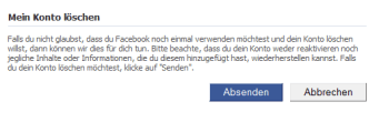 Facebook-Konto entfernen