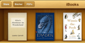 Bücherregal von iBooks
