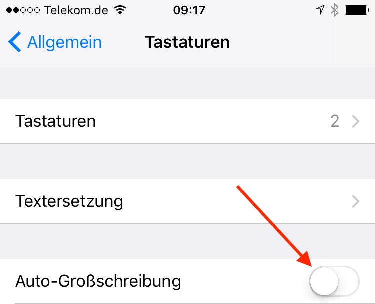 Ipad Und Iphone Automatische Großschreibung Abschalten Tippscoutde