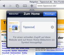 Home-Icon hinzufügen