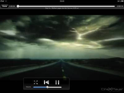 CineXPlayer beim Abspielen