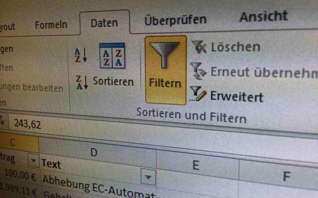 So gehts: Daten filtern mit Excel | Tippscout.de