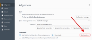 Firefox Download-Ordner festlegen